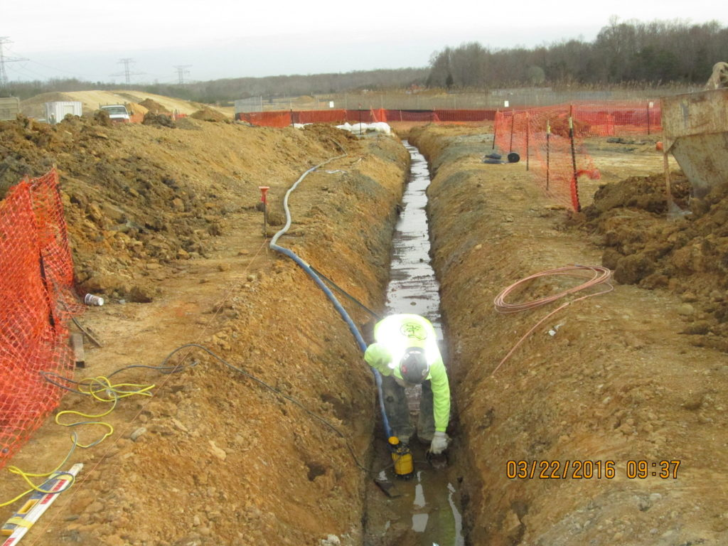 Duct Bank From MH 005 to Sectionalizers Keys Site 3-22-2016 001