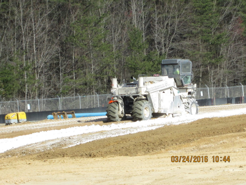 Lime Soil Grinding at Switch Yard Keys Site 3-24-2016 010
