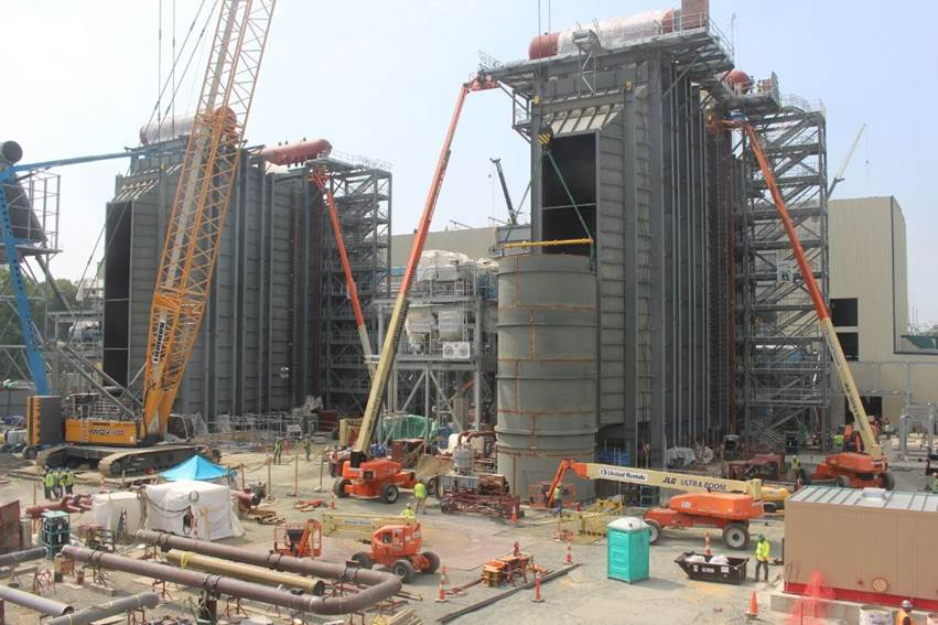SNC-Lavalin Construction Progress Pictures Of The PSEG Keys Energy Center LLC (6/23/17)